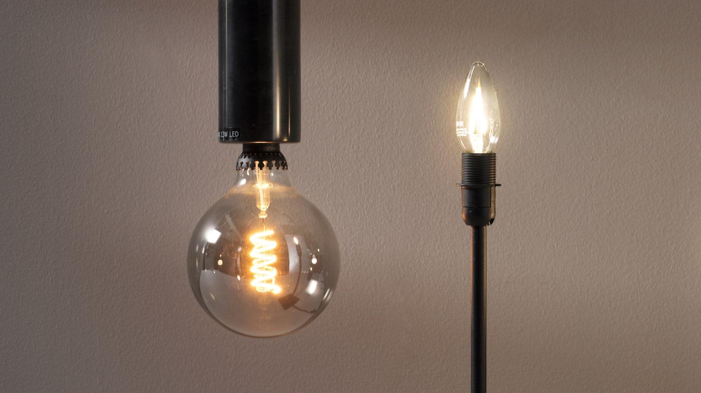 LED lampor för miljövänligt sken IKEA