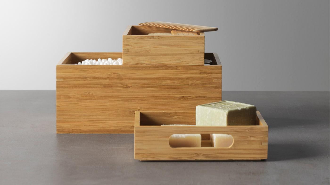 Корзины и коробки для ванной