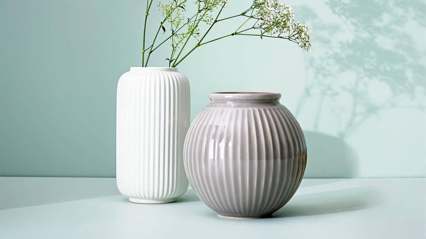Vaser, skålar och blommor gör vardagen gladare IKEA