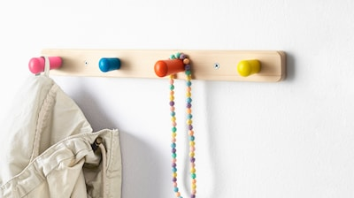 Children's hooks & wall organisation