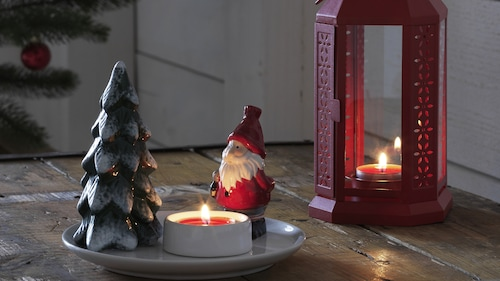 Christmas candles & candle holders