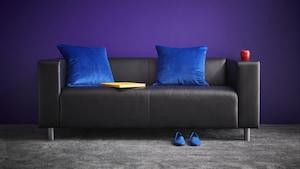 Coated fabric sofas