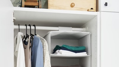 Hanging clothes organizers