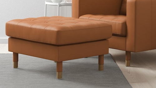 Leather/coated fabric footstools & pouffes