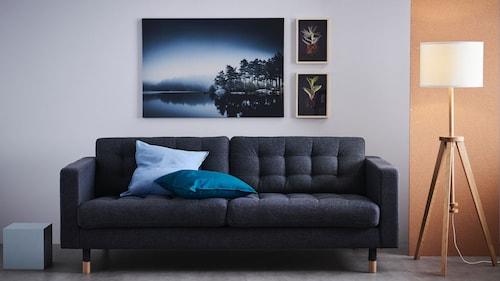 Трехместные диваны из комбинированной кожи