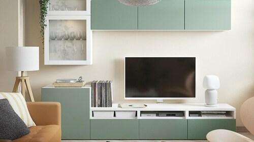 Systém úložných dílů do obývacího pokoje