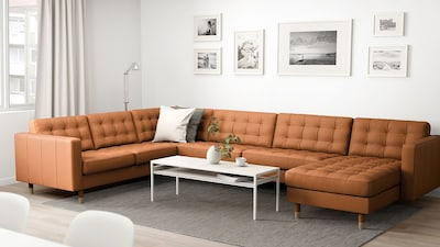 Modular leather/coated fabric sofas