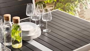 Mesas de refeição para exterior