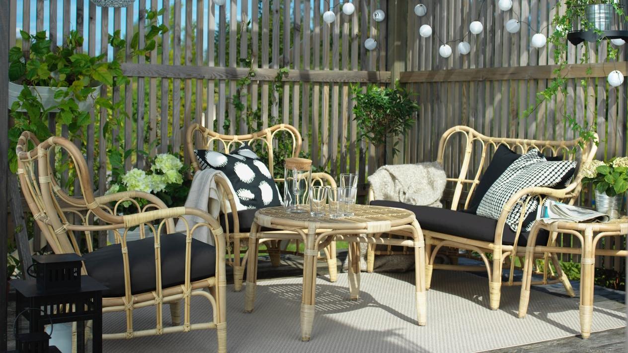 Balkongmöbler och loungemöbler för din uteplats IKEA