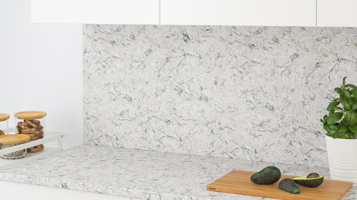 Küchenrückwand Alu Verbund Herd Spritzschutz Mineral Stones