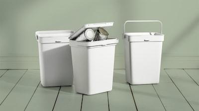 Återvinningslåda & avfallshink