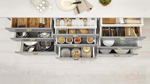 Kitchen Drawer Organisers Buy Kitchen Cabinet Organizers Online At Affordable Price In India Ikea