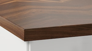 Столешницы с отделкой из натуральной древесины