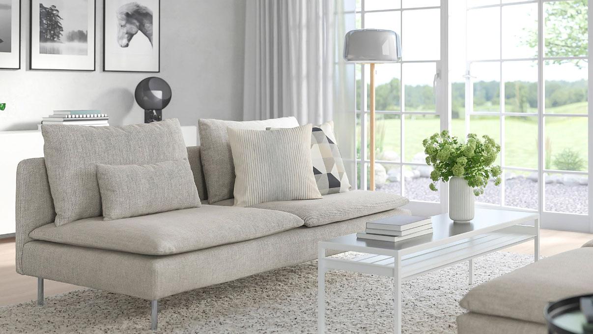Dreisitzer Sofas Mit Stoffbezug Furs Wohnzimmer Ikea Schweiz