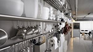 Vægopbevaring til køkkenet