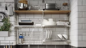 Kitchen wall organization & storage